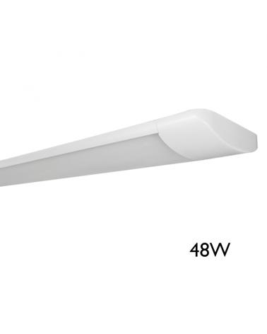 Lámpara de techo 1213cms LED 48W luz blanca 4000K alta luminosidad 5429Lm. acabado blanco