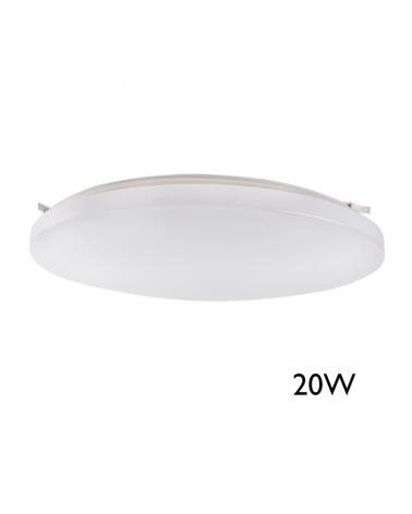 Downlight Plafón 33cm LED de superficie 20W con sensor de presencia y luminosidad, apto exteriores IP44