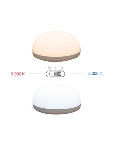 Lámpara con sensor táctil 13cm  regulable LED 1W 90 Lm. batería USB