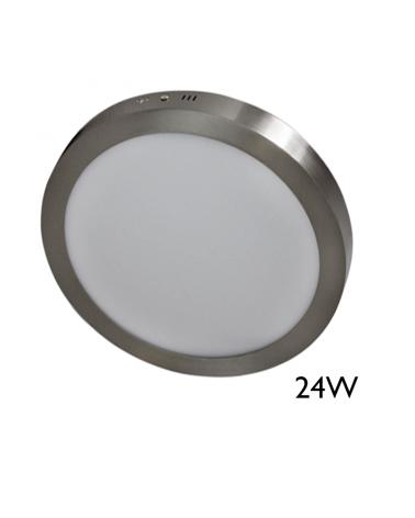 Downlight 30cm LED de superficie acabado gris LED 24W
