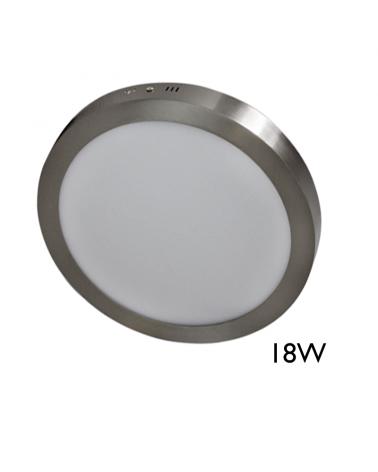 Downlight  22,5cm LED de superficie acabado gris LED 18W