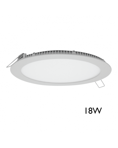 Downlight 23cm empotrable extraplano color blanco 18W LED
