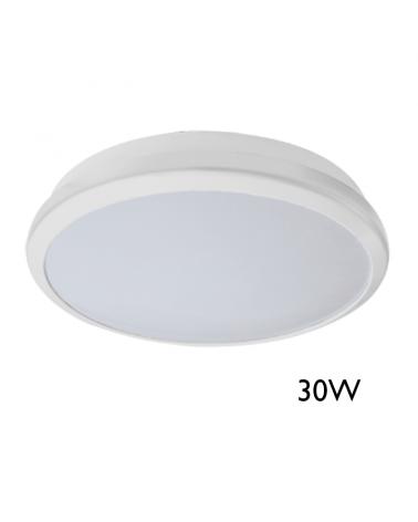 Plafón 30W LED diámetro 29cm color blanco alta luminosidad