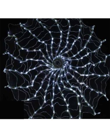 Red de LEDs Tela de araña diámetro 80cms. 0,8m 24V para exterior o interior con controlador incluido