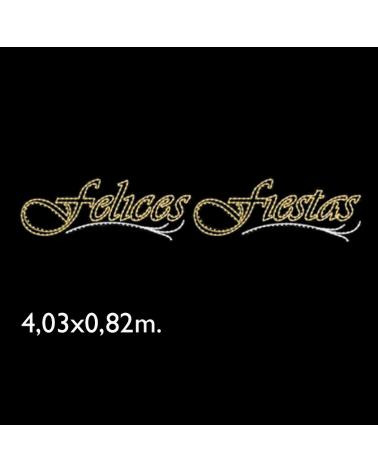 "Motivo ""Felices Fiestas"" 4,03x0,82m 120W"