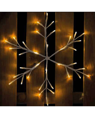 Copo de nieve estrella 40cm guirnalda LED  1,2W