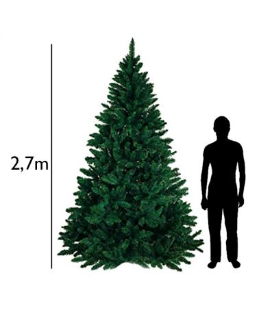Arbol de Navidad gigante verde de 2,7 metros