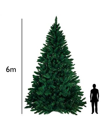 Arbol de Navidad gigante verde de 6 metros