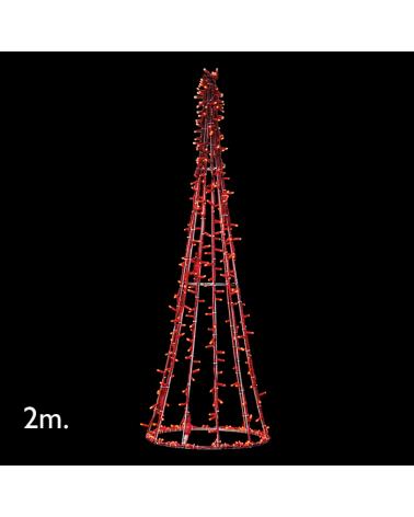 Cono led de 2 metros con LED rojos IP65 230V 24W