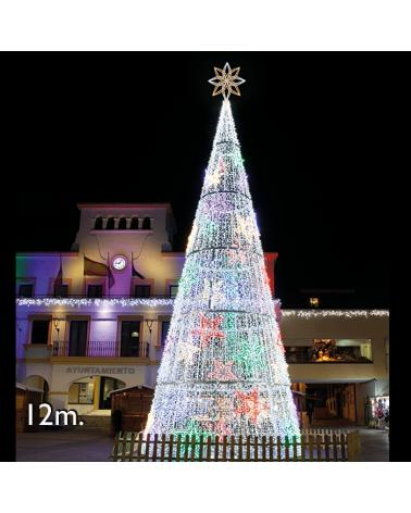 Cono Gigante LED 12m IP65 230V con LEDs blancos y 37 estrellas 2005W