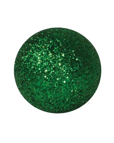 Bola Navidad verde con brillantina purpurina