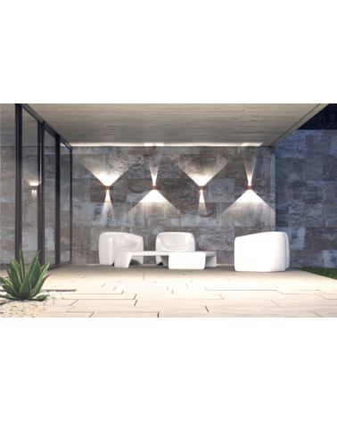 Aplique pared blanco de exterior 10cm Luz superior e inferior LED 6,8W Aluminio  2700k. 480 Lm.
