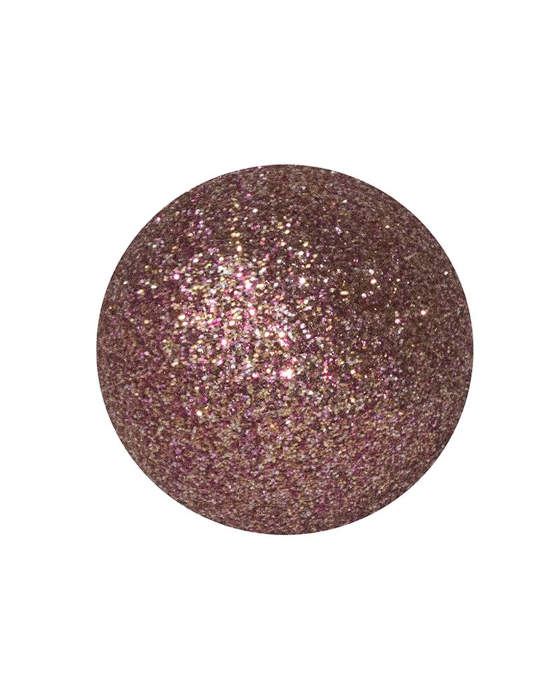 Bola Navidad diámetro rosa con purpurina