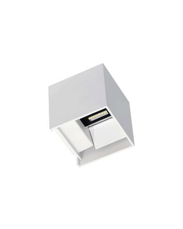 Aplique pared blanco de exterior 10cm Luz superior e inferior LED 6,8W Aluminio 3000k. 530 Lm.