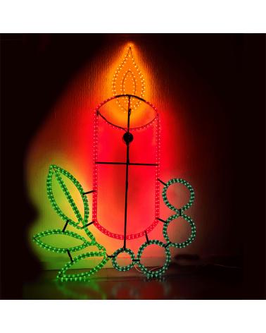 Figura Navideña vela de navidad grande 160x110cms apto para exteriores