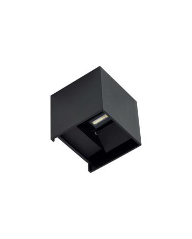 Aplique pared negro de exterior 10cm Luz superior e inferior LED 6,8W Aluminio 3000k. 530 Lm.