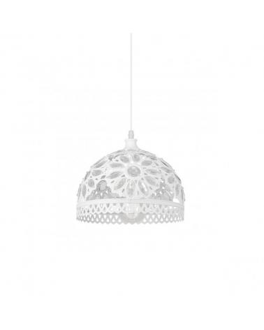 Lámpara de techo de techo 28cm.blanca con lentes acrílicas incrustadas 60W E-27