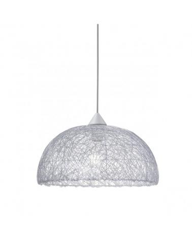 Lámpara de techo 42cm. Fibra enredada color Plata 60W E-27