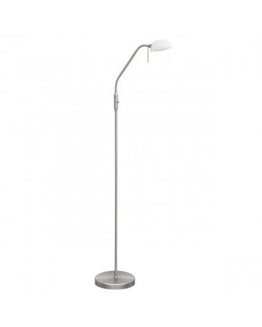 Lámpara de pie 150 cm. Con foco orientable en níquel satinado 30W E14
