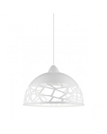 Lámpara de techo 30 cm blanca diseño trencadís E27 60W