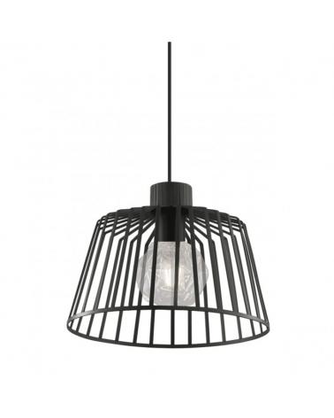 Lámpara de techo 30cm estructura metal negra 1 X 60W E-27