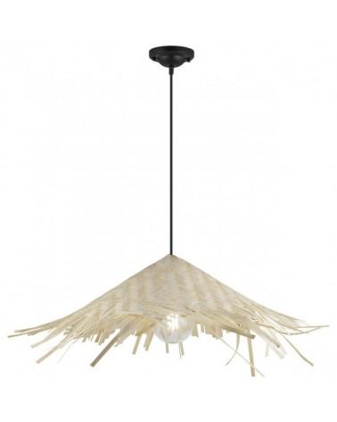 Lámpara de techo 60cm tipo sombrilla en bambú  1 X 60W E-27