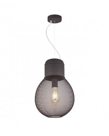 Lámpara de techo 56cm tipo jaula negra   1 X 60W E-27