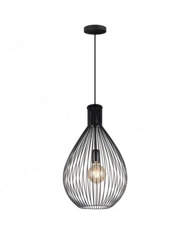 Lámpara de techo 46cm esfera en rejilla metal marrón  1 X 60W E-27