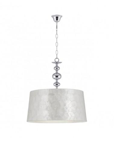 Lámpara de techo 40cm pantalla de nácar cuerpo acabado cromado E27
