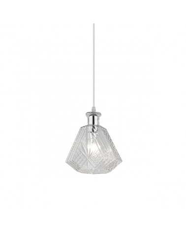 Lámpara de techo cristal 15cm cristal forma botella tallada 60W E27