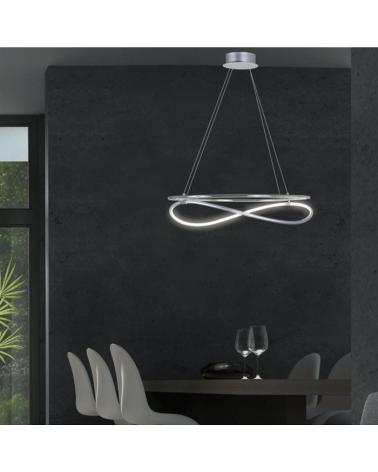 Lámpara de techo de techo 50cm. cromo LED retroiluminado LED 30W 4000K 2700Lm