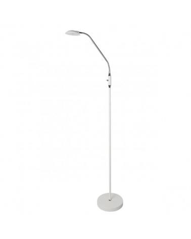 Lámpara de pie 165 cm. Con foco orientable acabado en blanco LED 5W 4000K  500LM