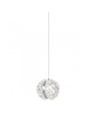 Lámpara de techo Metacrilato 12cm transparente tipo roca tallada con cinta en cromo LED 10W 950LM 4000K