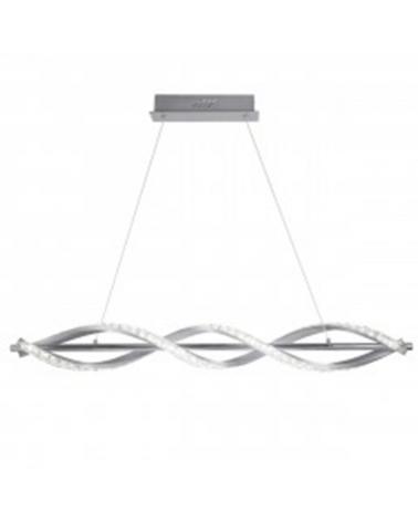 Lámpara de techo 85cm cristal diamante ondulante sobre metal cromado LED retroiluminado 8W 4000K 3420LM