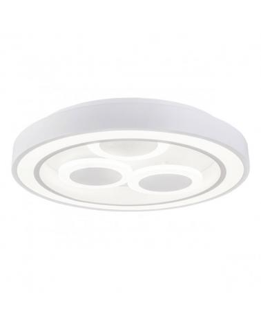 Plafón redondo con tres círculos LED 42cm 40W 4000K 3800Lm
