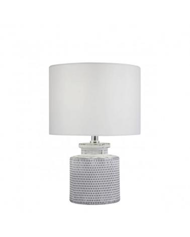 Lámpara de mesa de 34cm con cuerpo cerámico pantalla de tela blanca 1 X 60W E-27