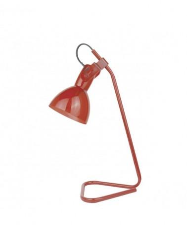 Flexo metal 34cm base triángulo pantalla oscilante metal y acrílico acabado en rojo 1 X 40W E-14