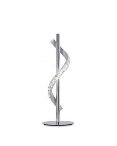 Lámpara de sobremesa 37cm cristal diamante ondulante sobre metal cromado LED retroiluminado 8W 4000K 760LM