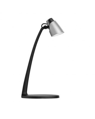 Flexo sobremesa 40cm en acrílico acabado negro y plata LED 6W 4000K 600Lm