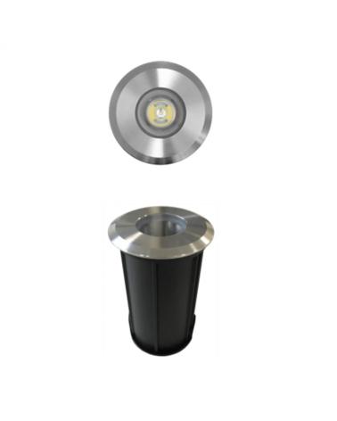 Empotrable de suelo LED 2W IP67 acero inox. de luz cálida 3000K hasta 2.000 Kgs.