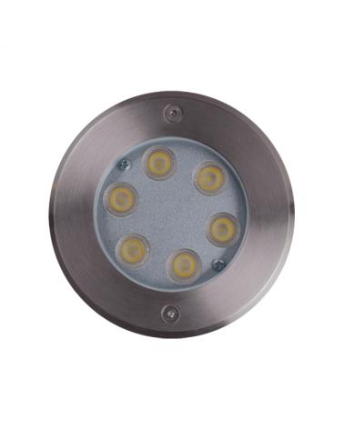 Empotrable de suelo LED 6W IP67 acero inox. de luz blanca 4000K 702 Lúmenes, peso hasta 2.000 Kgs.