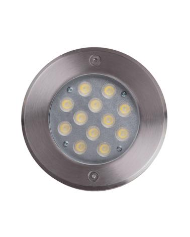 Empotrable de suelo LED 12W IP67 acero inox. de luz blanca 4000K 1.496 Lúmenes, peso hasta 2.000 Kgs.