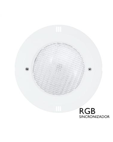 Luminaria de empotrar sumergible IP68 LED 18W RGB sincronizador 12VAC
