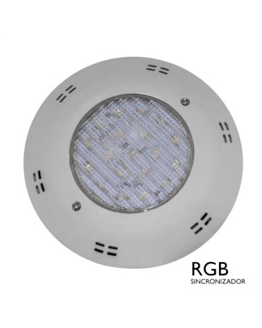 Luminaria de superficie sumergible IP68 LED 22W RGB sincronizador 12VAC
