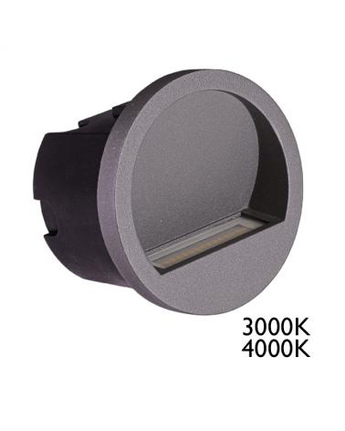 Aplique empotrable LED 3W IP54 apto para exteriores