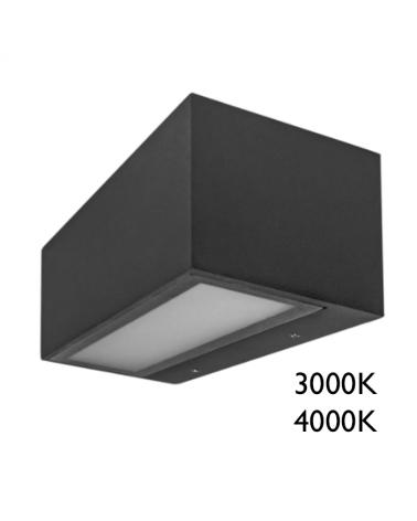 Aplique rectangular LED 15W muy luminoso IP65 acabado gris