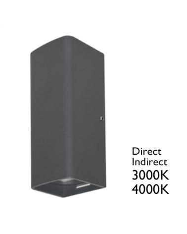 Aplique LED 14W IP65 para exteriores de luz directa + luz indirecta