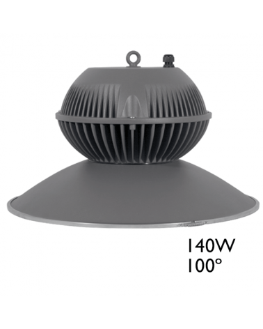 Campana LED IP65 140W 5000K 100º 17.654 Lúmenes 50.000h.
