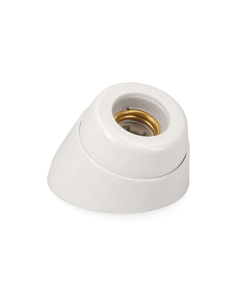 Portalámparas de superficie curvo de porcelana E27