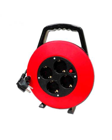 Enrollacables doméstico de 10m con protector térmico 3x1mm2 y 4 tomas T/TL